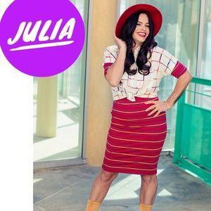 LuLaRoe Dresses - LuLaRoe Julia sz L body con dress knee length NWT